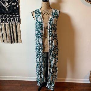 HM Green Leaf Kimono Vest
